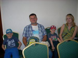 Filipek z tatą Marcinem z Białej, Wojtuś z mamą Anią - Sztum
